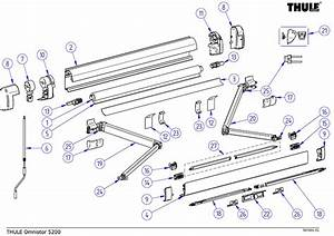Thule Omnistor 5200 Awning Spare Parts Diagram