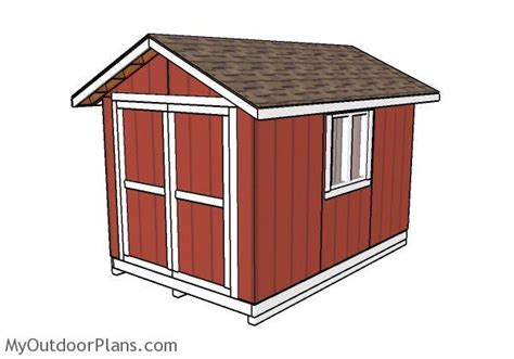 8x12 wood shed 8x12 shed plans myoutdoorplans free woodworking plans