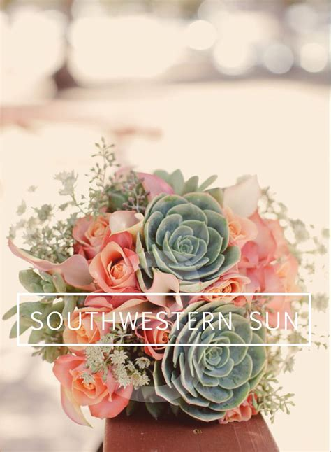 diy southwestern wedding bouquet succulents calla