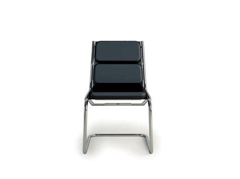 chaise rembourrée chaise visiteur sans accoudoirs rembourrée en cuir light