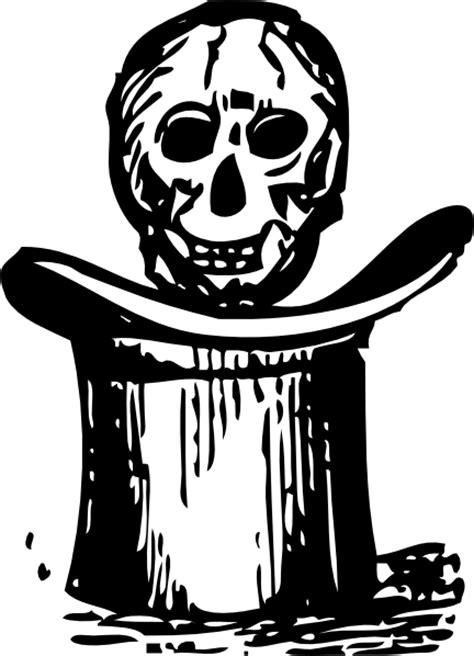 skulls  top hats   clip art