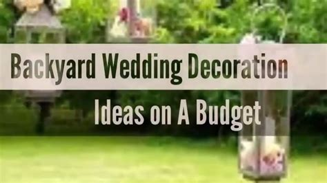 beautiful backyard wedding decoration ideas