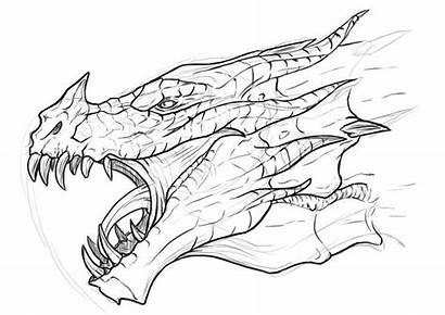Skyrim Coloring Pages Dragon Dragons Deviantart Realistic