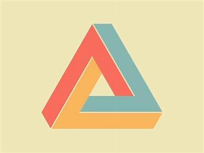 Triangle Penrose Impossible Animation Dribbble Owen Illusion