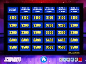 jeopardy powerpoint template with music games With jeopardy online game template
