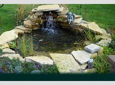 Small Backyard Koi Pond Design With Stone Border And