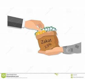 Zakat Giving Money To The Poor Islam Concept Religious Tax ...
