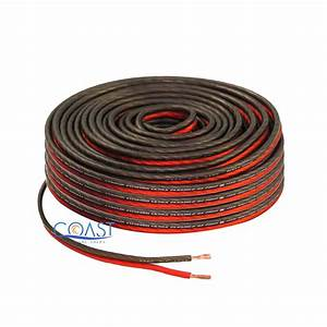 Red 100 Ft True 16 Gauge Awg Car Home Audio Speaker Wire