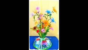 Tutorial Arreglo Flores De Nylon Y Flores De Papel Con