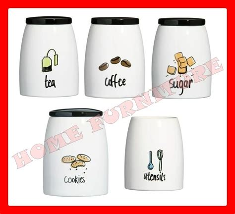 contemporary kitchen canister sets modern kitchen canister set pc tea coffee sugar cookies