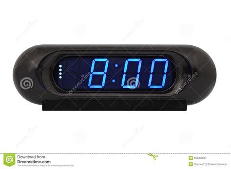 horloge sur le bureau horloge électronique de bureau photos libres de droits