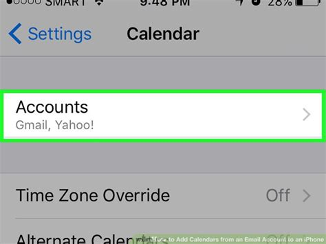 to add email account to iphone how to add calendars from an email account to an iphone
