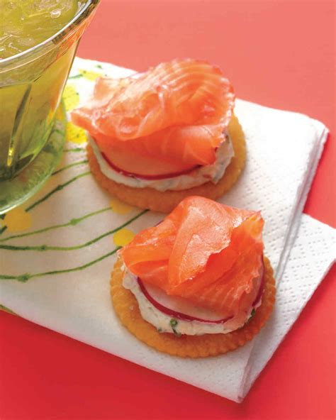 salmon canapes easy appetizers martha stewart