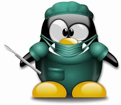 Clipart Surgery Surgeon Doctor Penguin Funny Clip