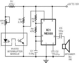 Smoke Detector Using Timer Circuit