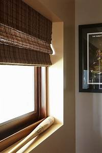 window treatments for basement windows Spaces with bamboo