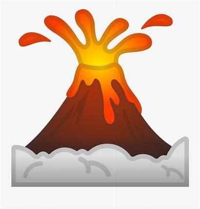 Volcano Cartoon Clip Volcanoes Emoji Clipart Clipartkey