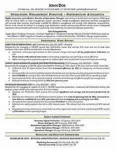 Sales Resume Objective Warehouse Manager Resume Example Distribution Logistics