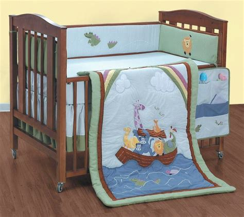 noahs ark crib bedding animal ark noah s 5pc baby crib quilt bedding set ebay