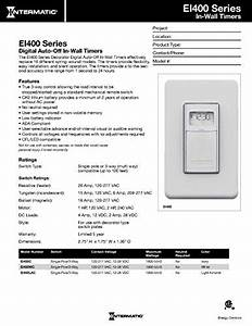 Intermatic Ei400lac Programmable Electronic Countdown In