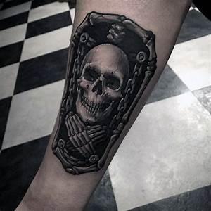 50 Skeleton Tattoos For Men - Spine-Tingling After Life ...