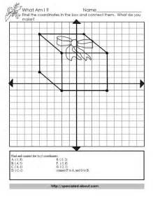 Christmas Coordinate Graph Worksheets