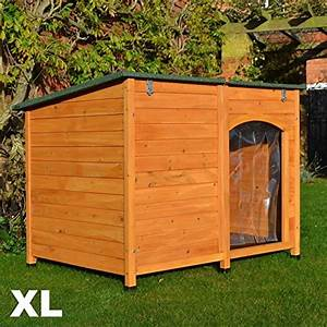 feelgooduk extra large dog kennel sloped roof wooden With dog houses for extra large dogs