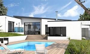 stunning maison cubique moderne plain pied photos design With photo maison contemporaine plain pied