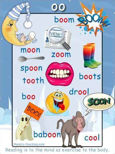 oo word list phonics poster  images english