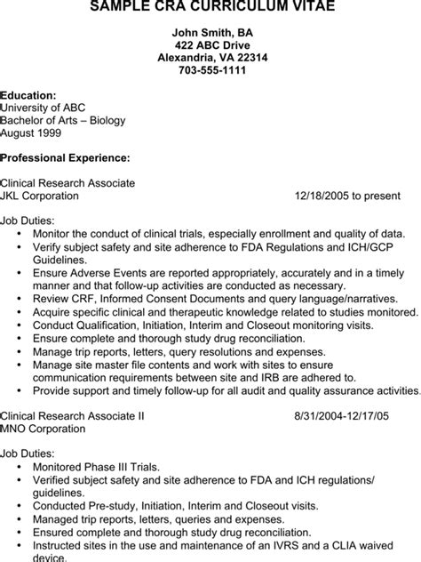 Clinical Assistant Resume by Clinical Research Assistant Resume For Free