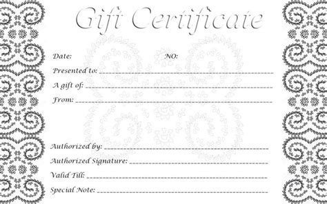 Free Gift Certificate Template For Mac by Gift Certificate Template Free Premium