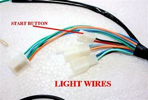 Kick  Electric Start Engine Wire Wiring Harness Loom  Light Wire Pit Dirt Bike