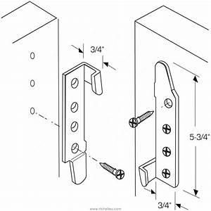 Assembler 2 Planches Perpendiculairement : ferrure de lit 5625 quincaillerie richelieu ~ Premium-room.com Idées de Décoration