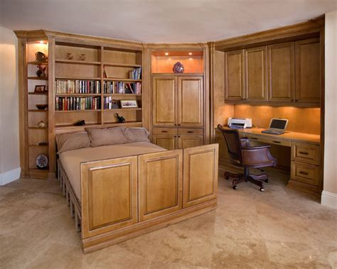 home office with zoom bed traditional home office