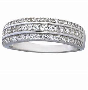 1 carat cubic zirconia wedding ring band for women in for Sterling silver cubic zirconia wedding rings