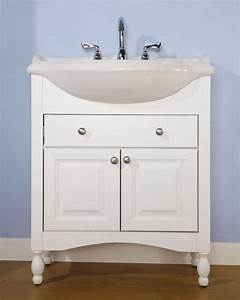 30 inch single sink narrow depth furniture bathroom vanity With 14 inch deep bathroom vanity