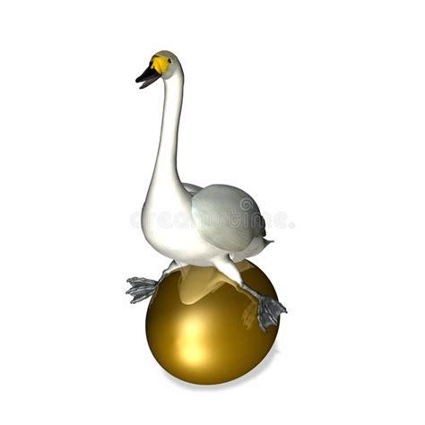 goose sitting  golden egg stock illustration