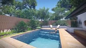 plan de petite piscine plan de petit jardin youtube With amenagement petit jardin de ville