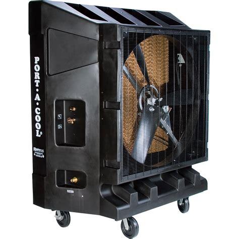 shop fans water cooled portacool portable evaporative cooler 48in 20 000 cfm