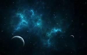 Artwork Blue Cosmic Dust Digital Art Earth Outer Spac