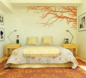 decorating bedroom with modern wall stickers paint designs With bedroom paint and decorating ideas