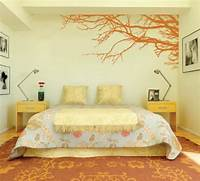 wall paint ideas Decorating Bedroom With Modern Wall Stickers Paint Designs ...