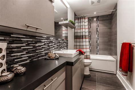 cuisiniste salle de bain salle de bain moderne en gris armodec salle de bain laval