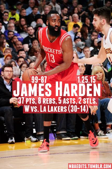 James Harden - 1.25.15 - W vs. Los Angeles Lakers - http ...