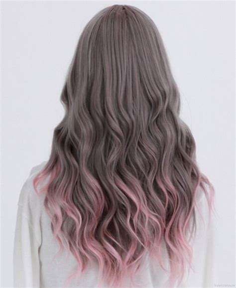 Very Ash Brown With Pale Pink Ombre Create Pinterest