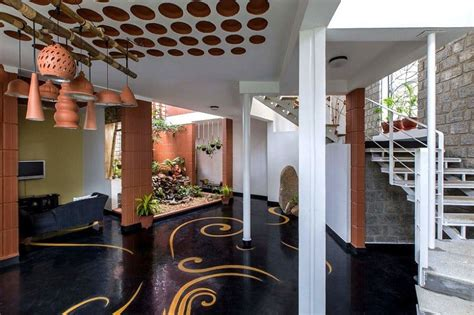 interior  blends traditional indian features  modern style
