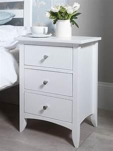 Edward Hopper white bedside table Bedroom Furniture Direct