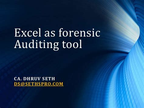 excel as a potent forensic accounting tool