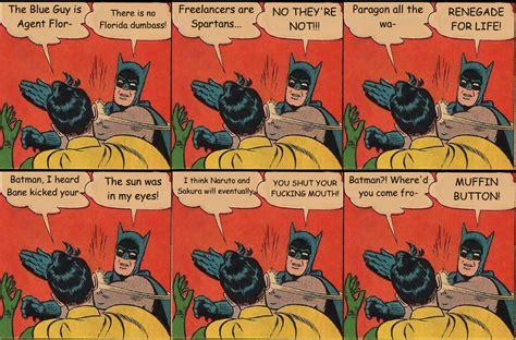 Batman And Robin Slap Meme - batman slapping robin meme by xpvtcaboosex on deviantart