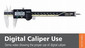 Digital Caliper Use - Mitutoyo